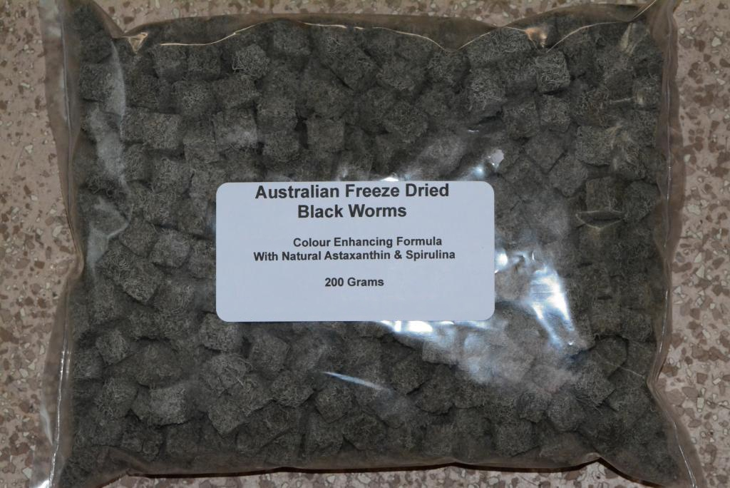 Cleaning & Maintenance 200 Gram Australian Freeze Dried Black Worm Cubes With Spinach
